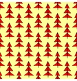 Red Christmas spruce seamless pattern vector image