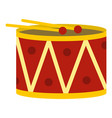 red drum and drumsticks icon isolated vector image