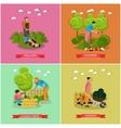 set of gardening agriculture flat design vector image
