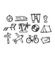 set of travel icon vector image