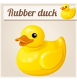 Yellow rubber duck Cartoon vector image