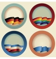 Abstract round frames with flags vector image vector image