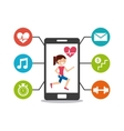 smartphone wearable technology icons vector image