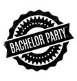 bachelor party rubber stamp vector image