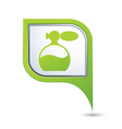perfume icon on green pointer vector image vector image