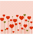 love background with pink hearts vector image vector image