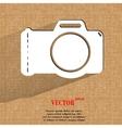 Photo camera Flat modern web button on a flat vector image