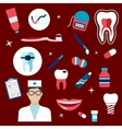 Dentistry hygiene icons and symbols vector image