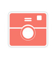paper sticker on white background camera vector image