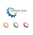 Gear logo template icon design vector image