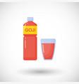goji berries juice flat icon vector image