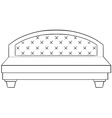 Luxury bed vector image