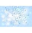 Molecular gene structure blue background vector image