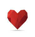 origami heart in isolated vector image