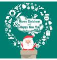 Santa Vintage Christmas card Celebration backgroun vector image
