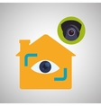 Smart house design home icon White background vector image