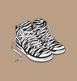 pair of zebra patterned sneakers sport shoes from