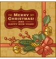 Vintage Christmas Gift vector image