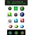 mega set of abstract power buttons vector image vector image