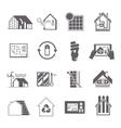 Energy Saving House Icon vector image vector image