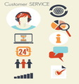 customer service2 resize vector image