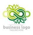 Business Logo Company Corporate Abstract Infinity vector image