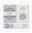 banner templates with mandala pattern vector image