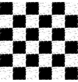 Black and white grunge checkered pattern vector image