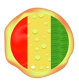 Hot Pizza Isolated vector image