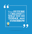 Inspirational motivational quote The future is vector image