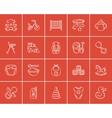 Kids sketch icon set vector image