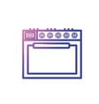 line stove technology kitchen utensil object vector image