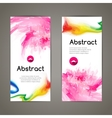 Set of polygonal and spots pink geometric banners vector image