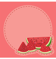 Watermelon Character Notes Pink vector image