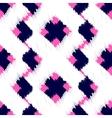 Ikat scribble swabs seamless pattern vector image