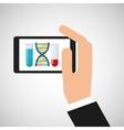 chemistry laboratory smartphone dna test tube vector image