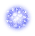 Abstract explosion with blue dust elements vector image