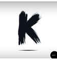 Calligraphic watercolor letter K vector image
