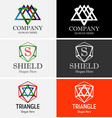 Abstract triangle logo set vector image