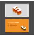 business card number 5 vector image
