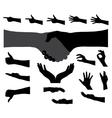 Black Set of Hand vector image