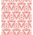 Vintage art deco pattern in coral red vector image
