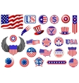 American patriotic badges symbols and labels vector image vector image