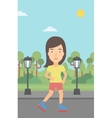 Sporty woman on roller-skates vector image vector image