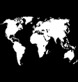 World map isolated on black vector image
