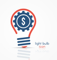 light bulb idea icon with gear and dollar sign vector image