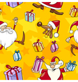 Christmas Cartoon Seamless Pattern vector image vector image