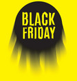 Black Friday Poster black on yellow up vector image