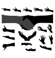 Black Set of Hand vector image
