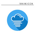 cloud sky fog mist line simple icon weather vector image